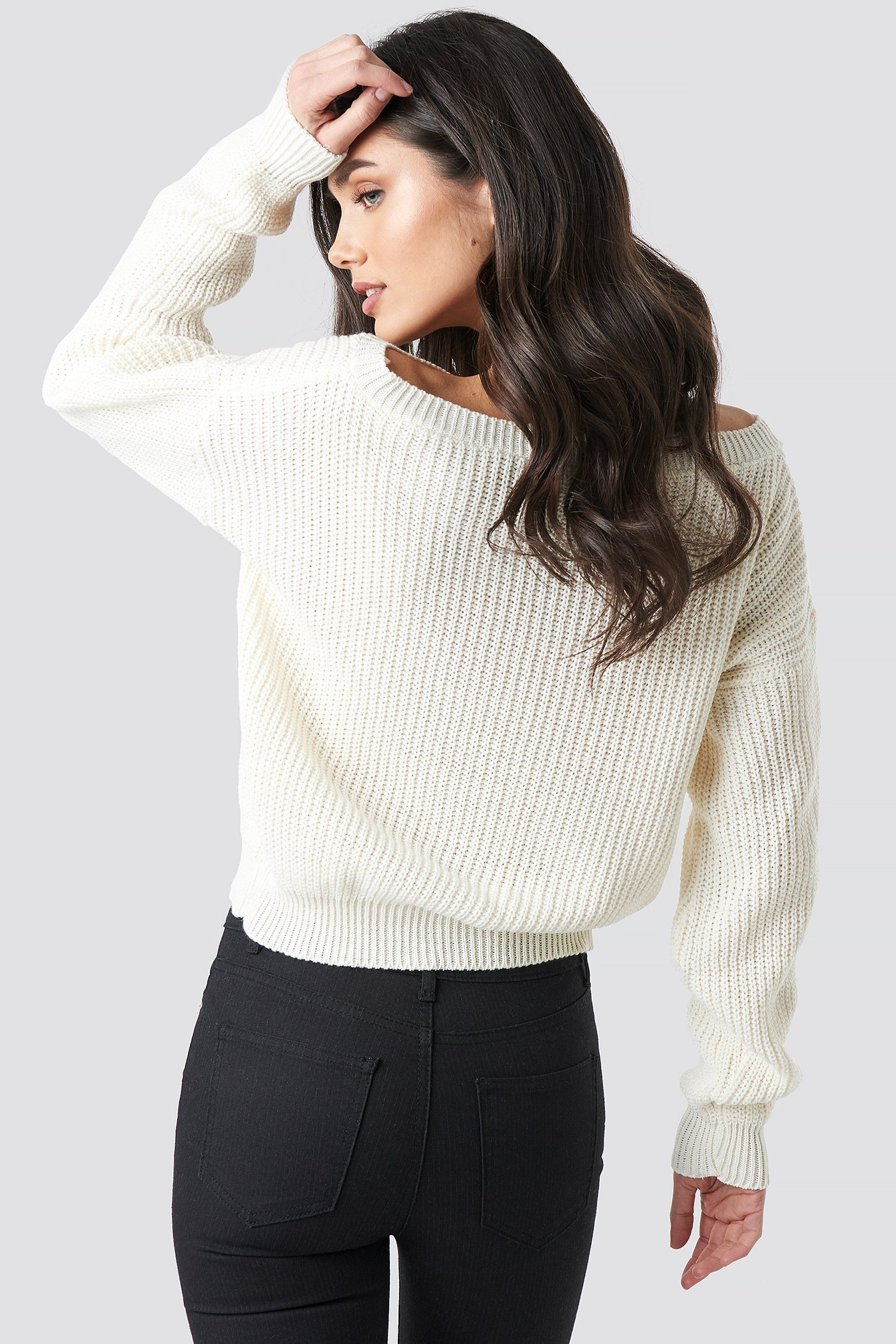 Knitted Slash Neck Jumper NA-KD.COM