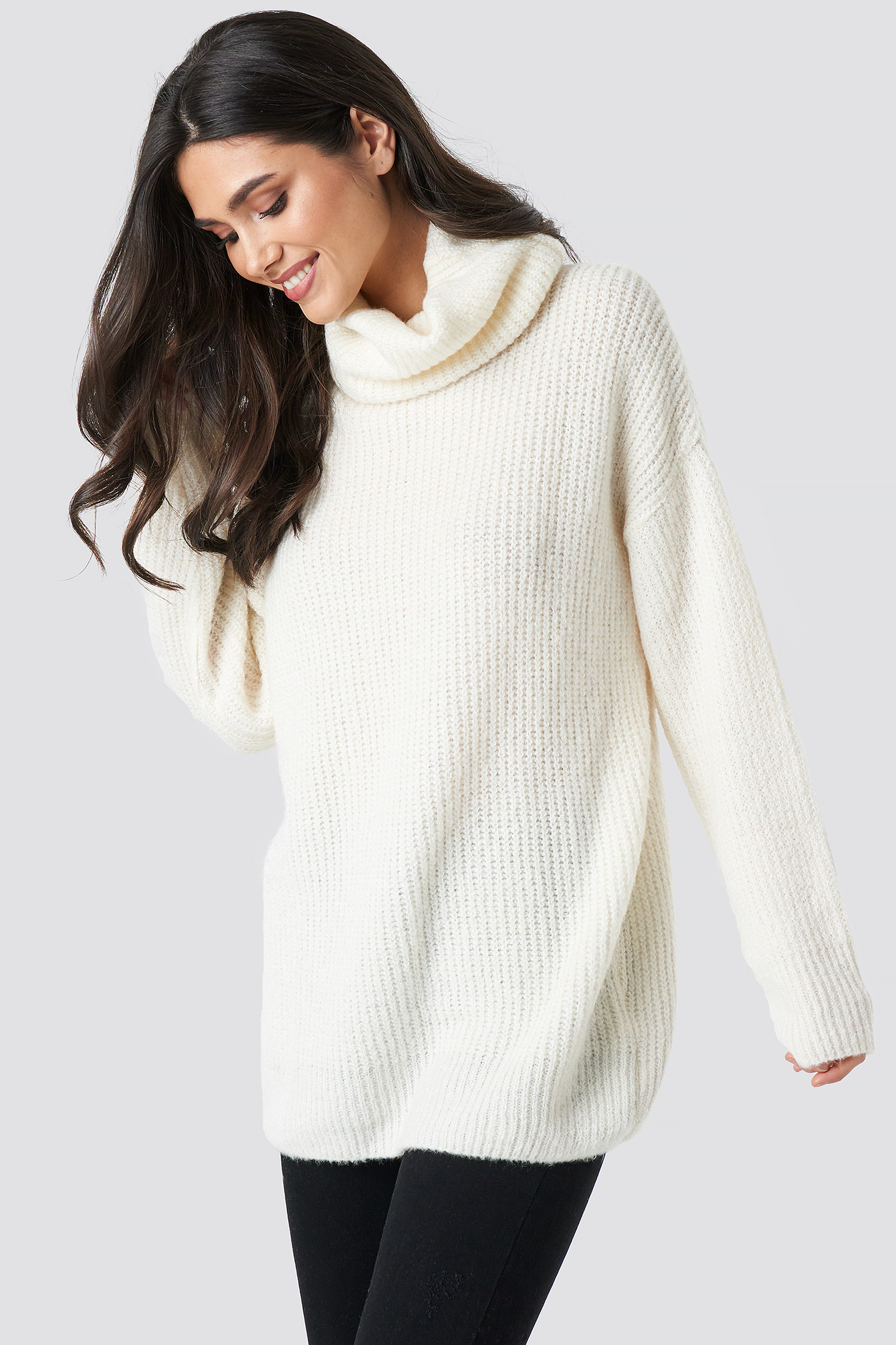 Roll Neck Soft Knitted Jumper NA-KD.COM