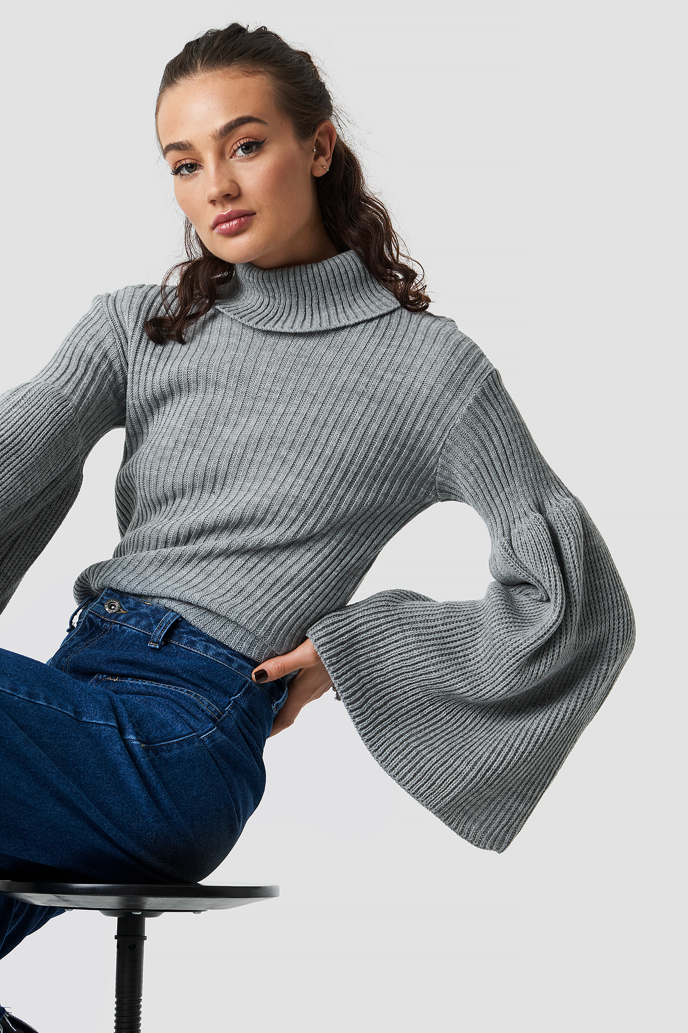 Wide Sleeve Roll-Neck Jumper NA-KD.COM
