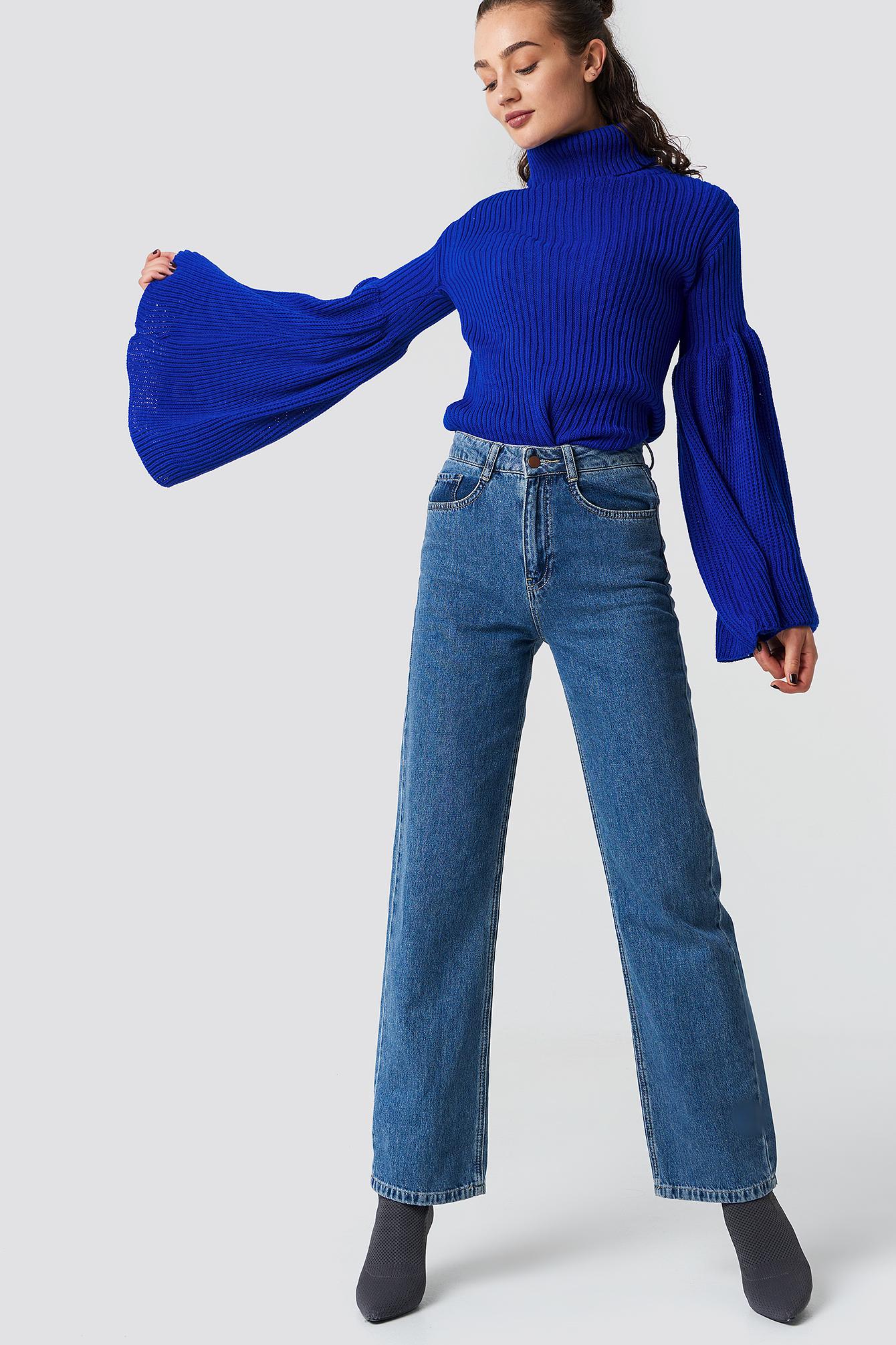 Wide Sleeve Roll-Neck Jumper NA-KD.COM