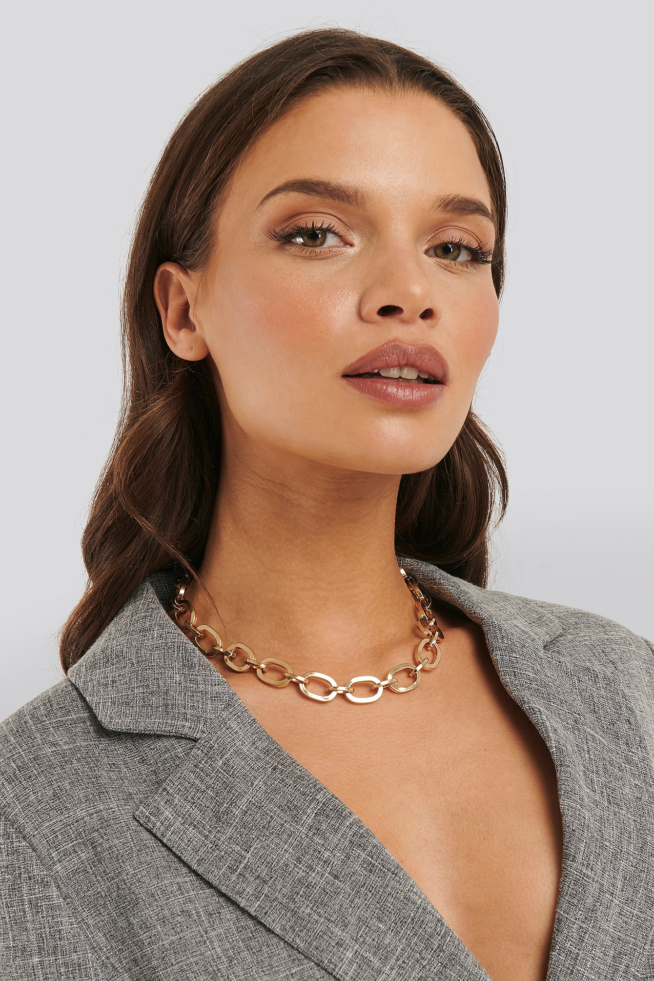 statement by na-kd influencers -  Laura Genovino Chunky Chain Necklace - Gold
