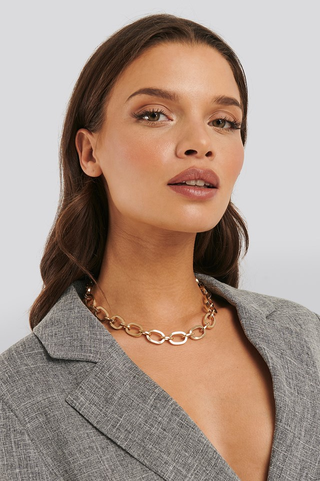 Laura Genovino Chunky Chain Necklace Gold