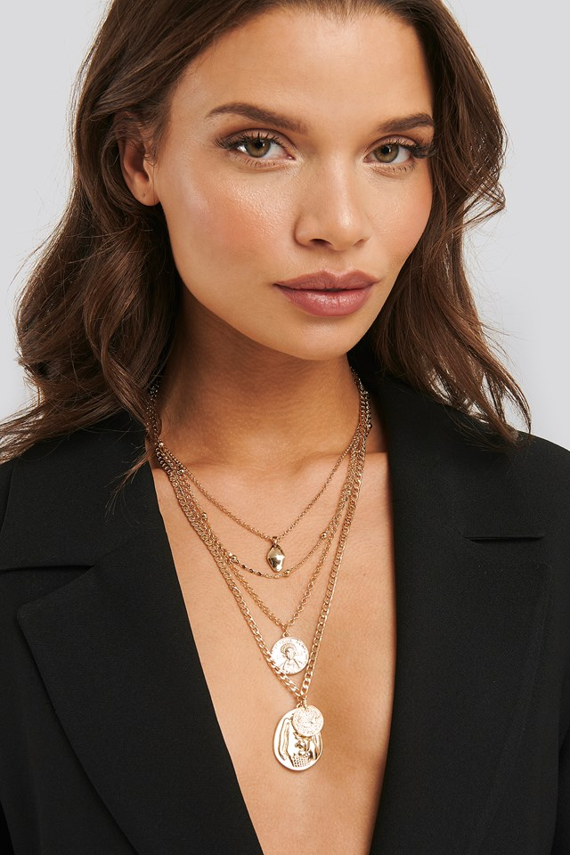 Laura Genovino Four In One Necklace Gold