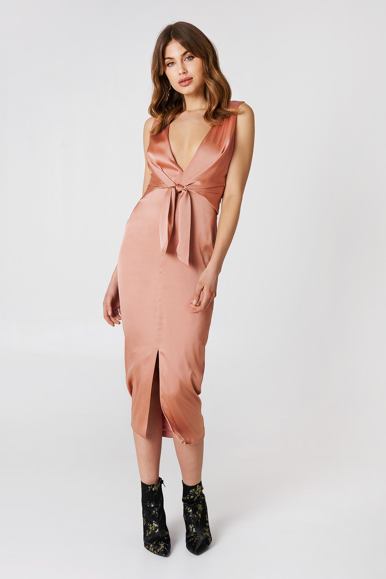 LAVISH ALICE TIE WAIST DRESS - PINK