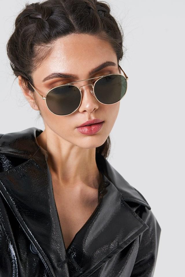 Okulary przeciwsłoneczne Revolution Gold/Khaki