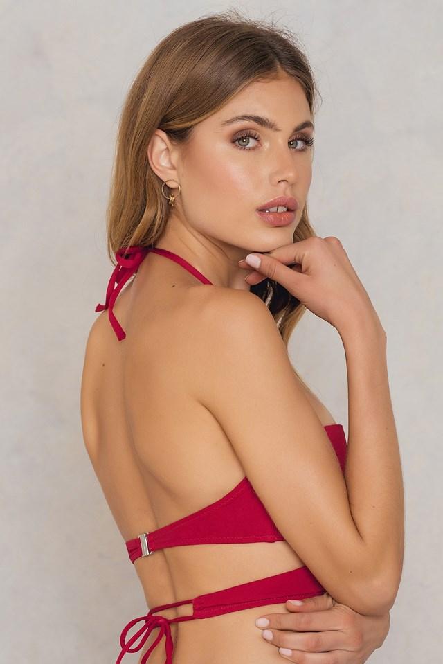 Cutted Bikini Top Red