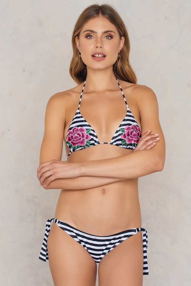 Retro Bikini Top Striped