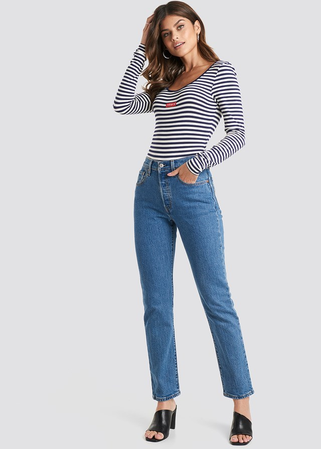 501 Crop Jeans Jive Stone Wash