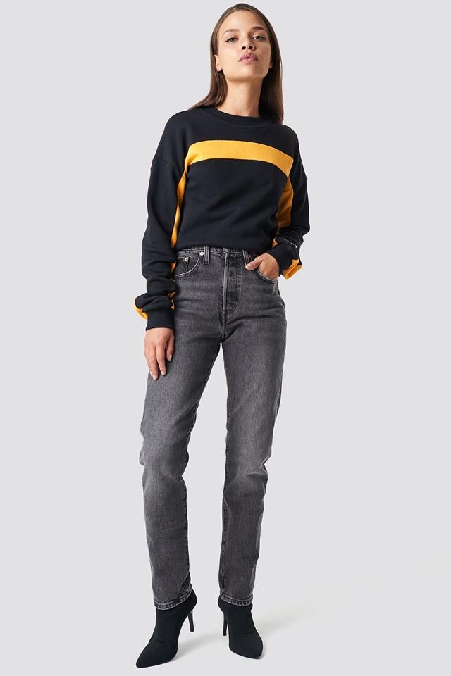 501 Skinny Jeans Coal Black