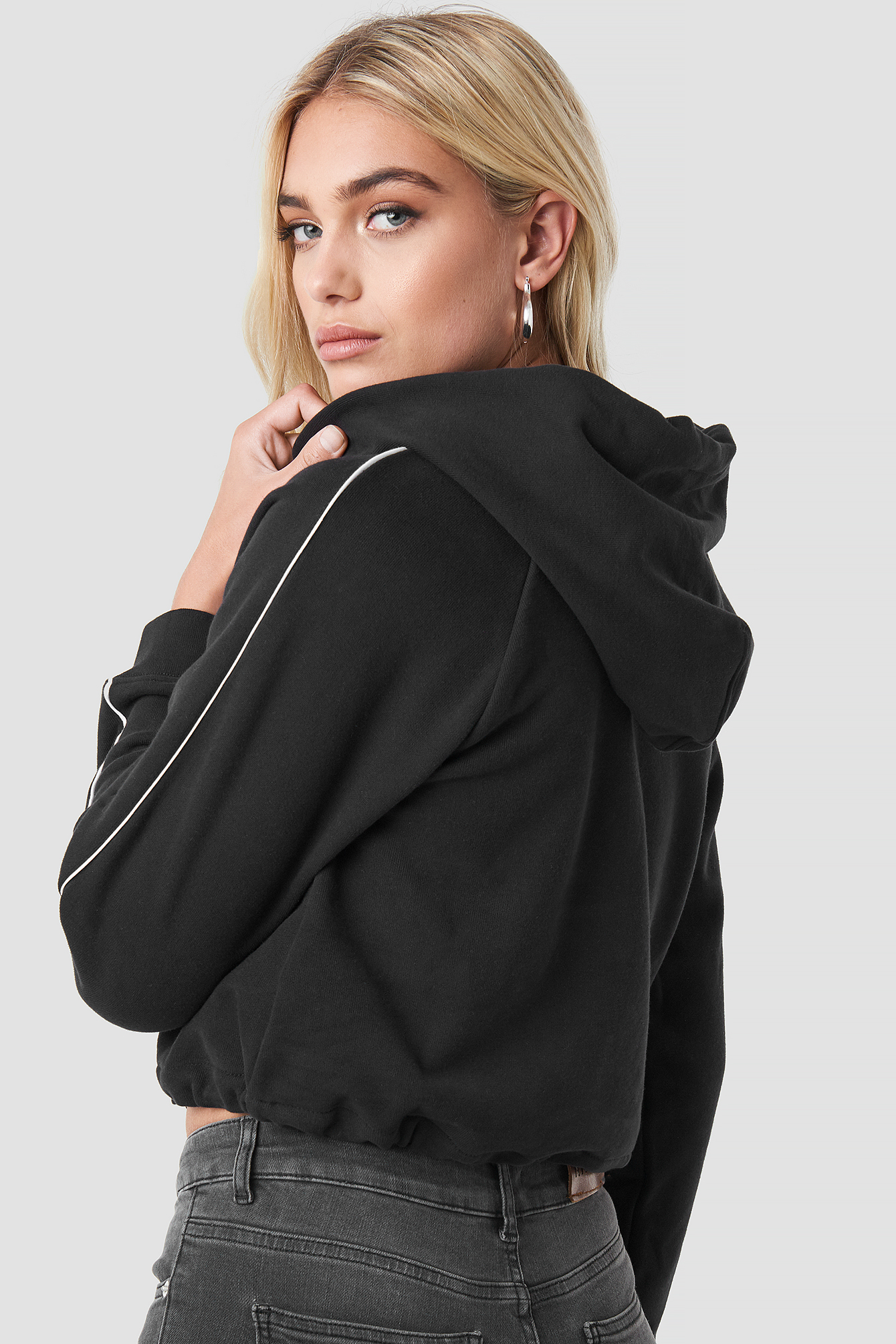 Cinched Colorblock Hoodie NA-KD.COM