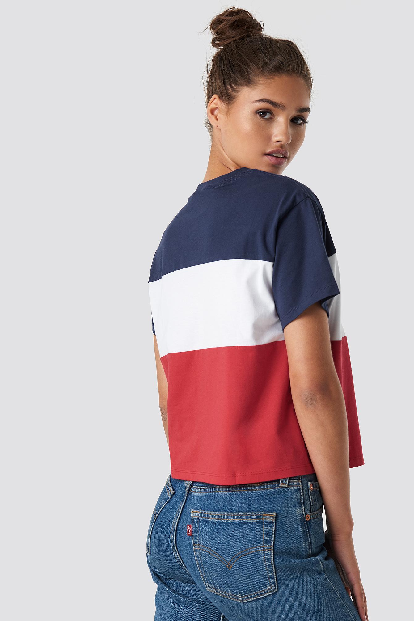 T-shirt Colorblock JV NA-KD.COM