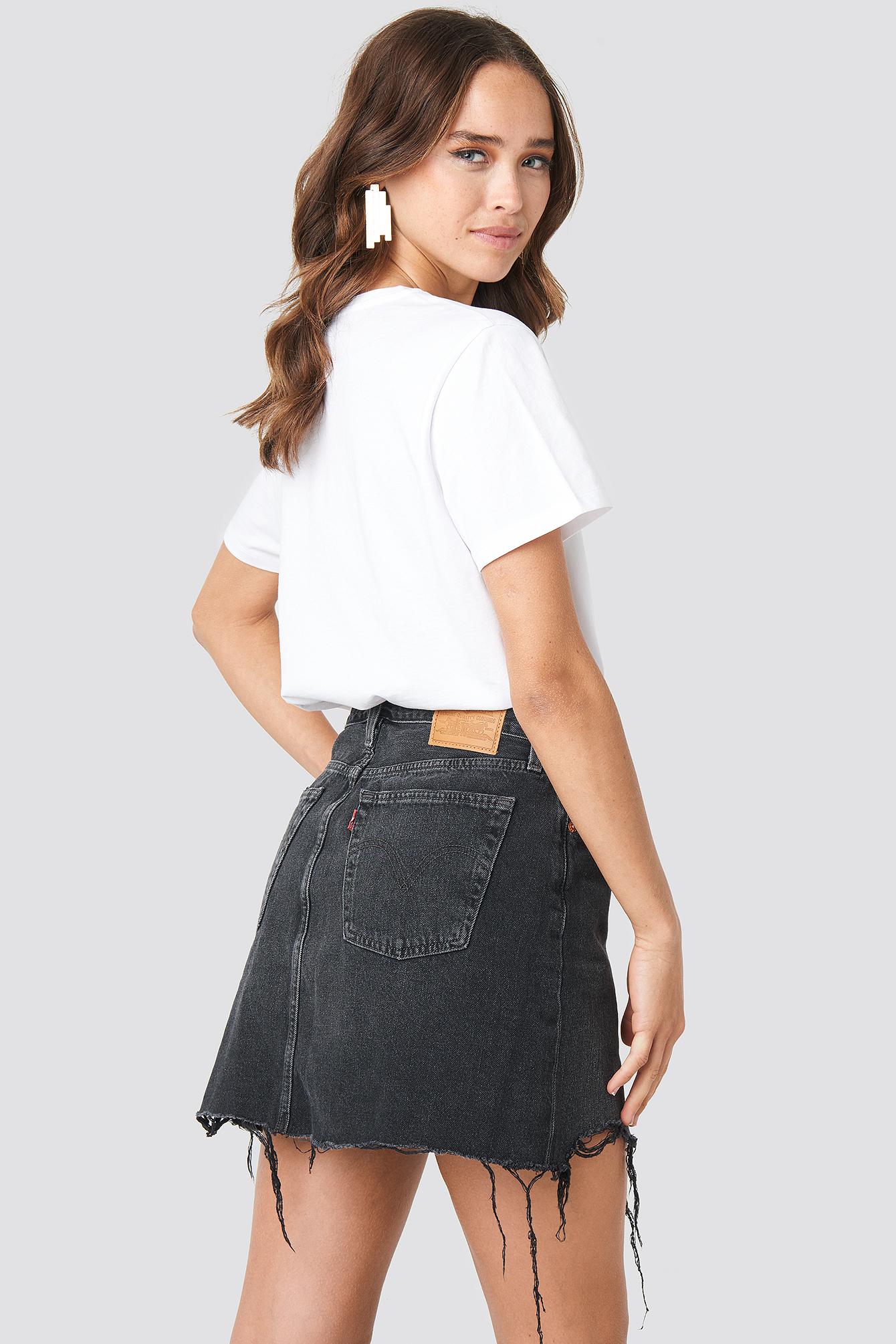 levi's -  Deconstructed Skirt - Black