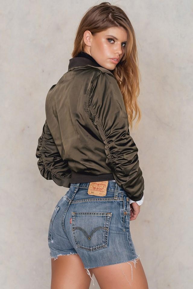 Levis Vintage Shorts dark blue NA-KD.COM