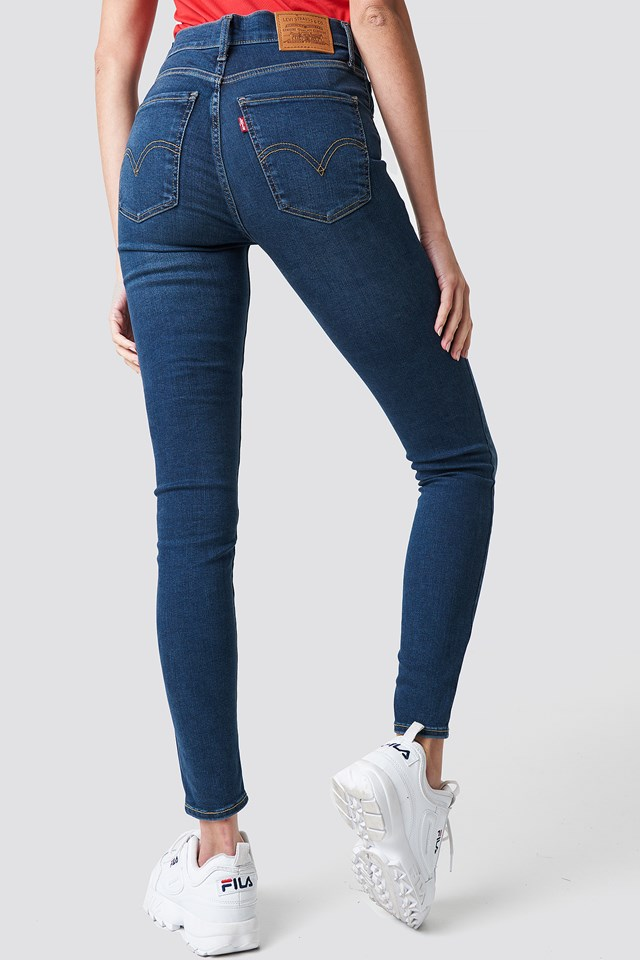 Jeansy Mile High Super Skinny Breakthrough Blue Breakthrough Blue