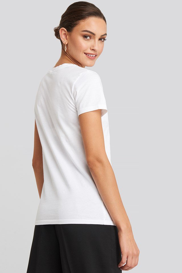 Perfect Tee Small Batwing White