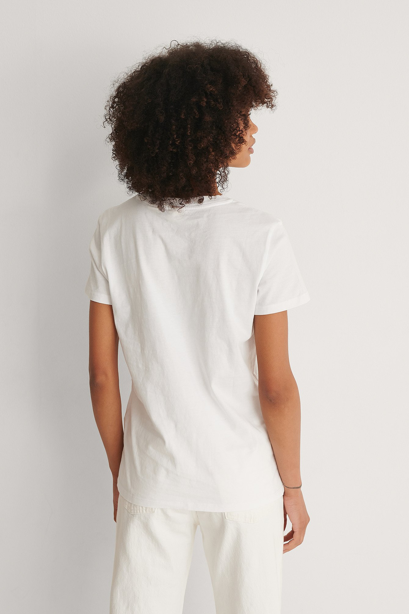 White Perfect Tee Small Batwing