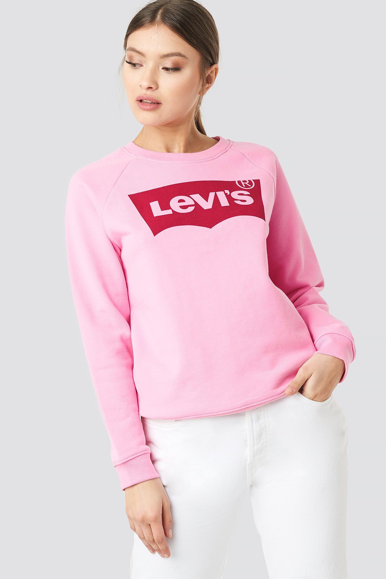 levi's -  Relaxed Graphic Grew Hsmk Sweater - Pink