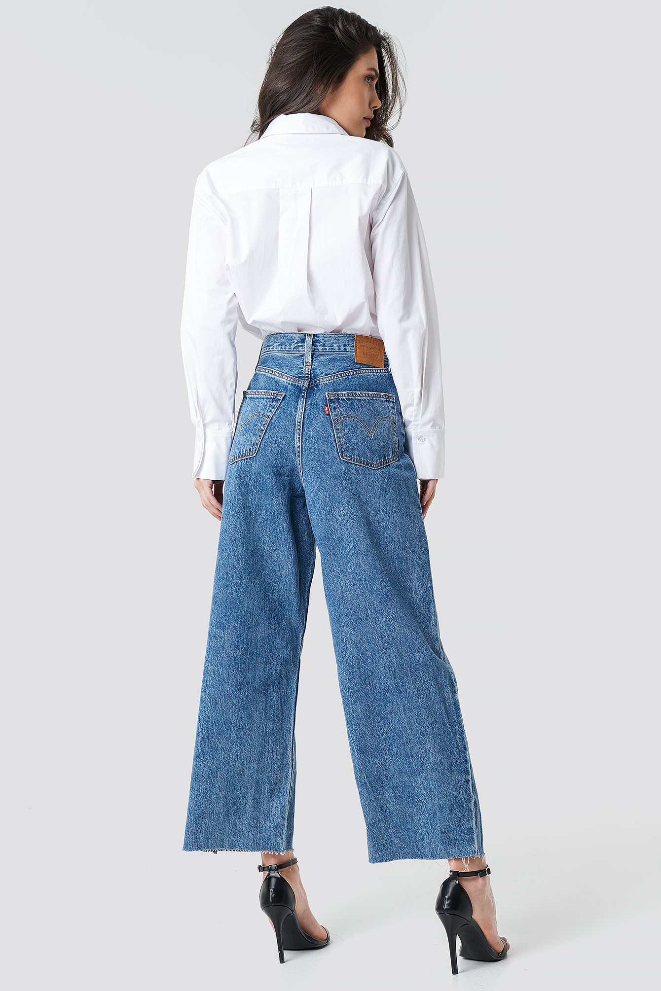 levi's -  Ribcage Pleated Crop Jeans - Blue