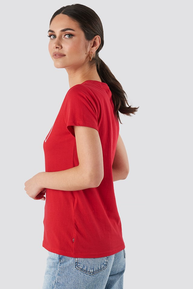 The Perfect Tee Outline Brilliant Red