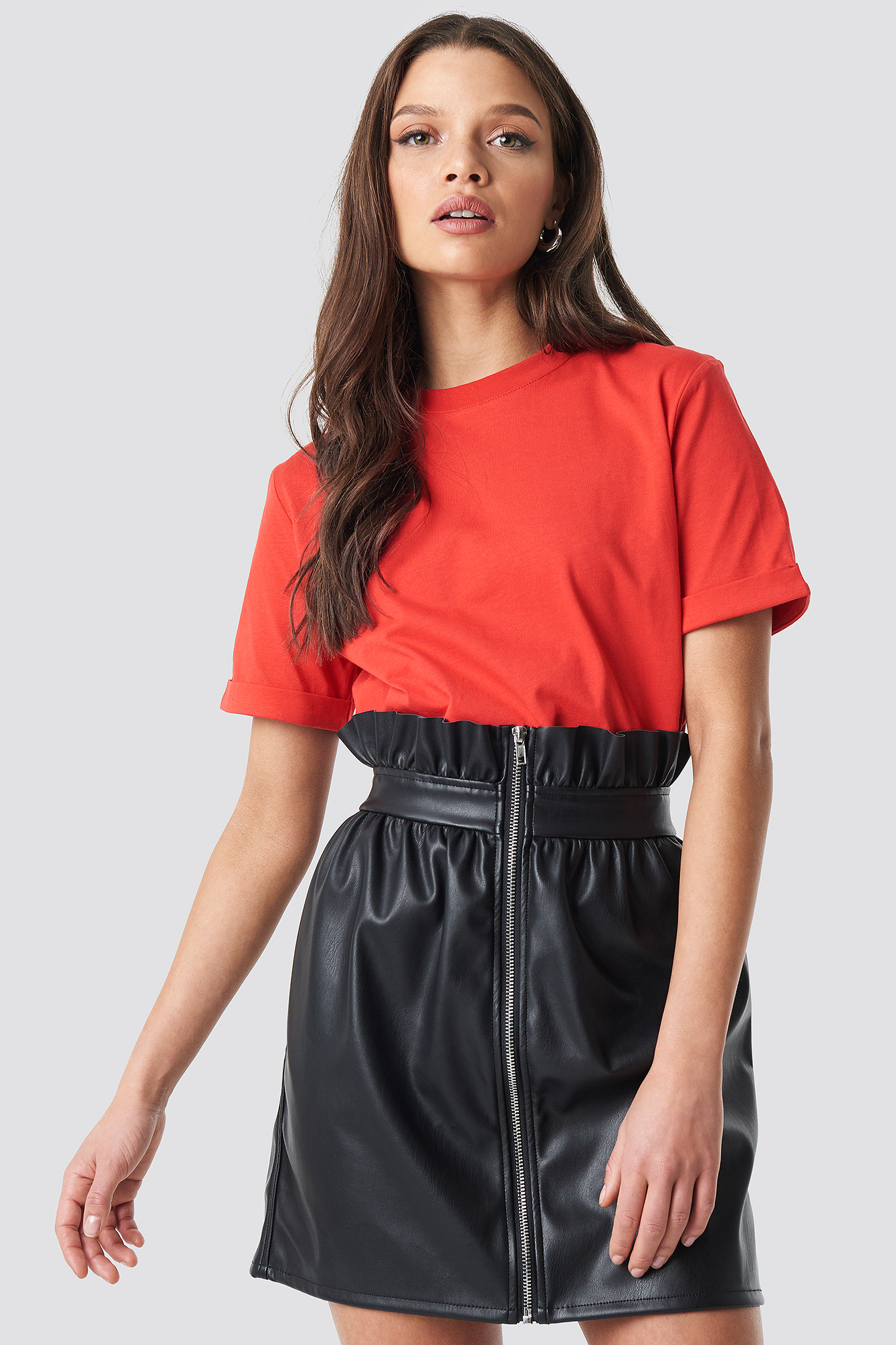 Basic Roundneck T-shirt NA-KD.COM