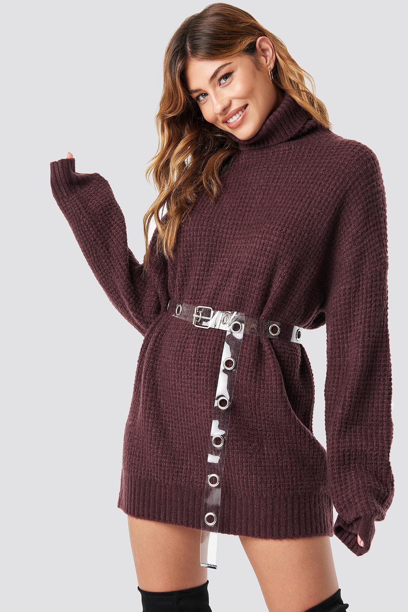 Gruby sweter z golfem NA-KD.COM