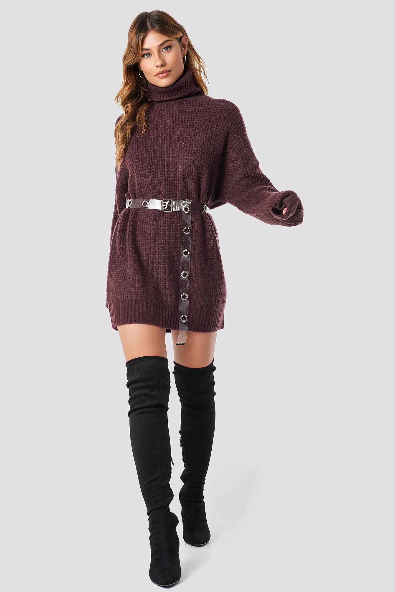 Chunky Oversized Polo Dress NA-KD.COM