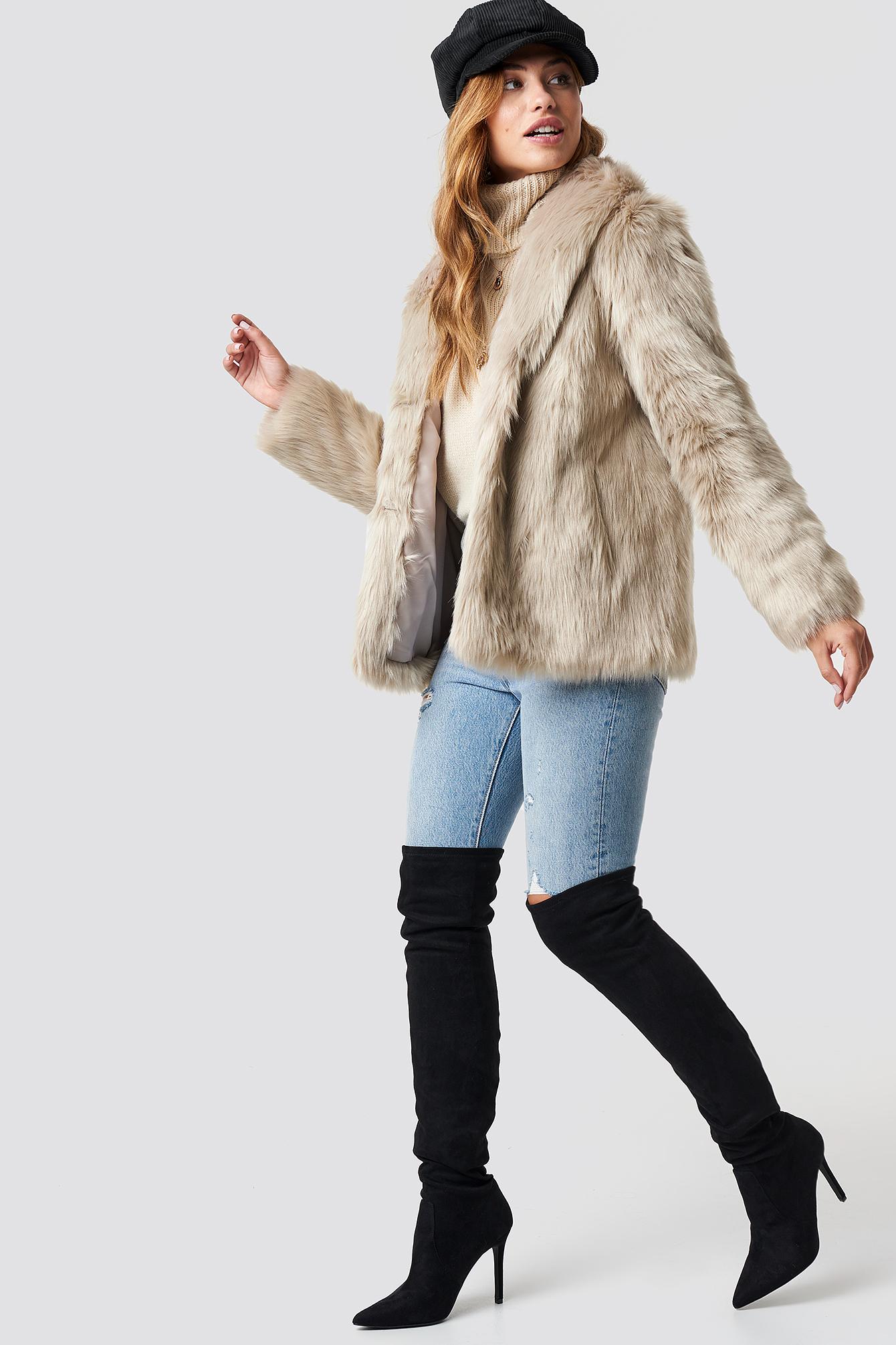 Classic Faux Fur Jacket NA-KD.COM