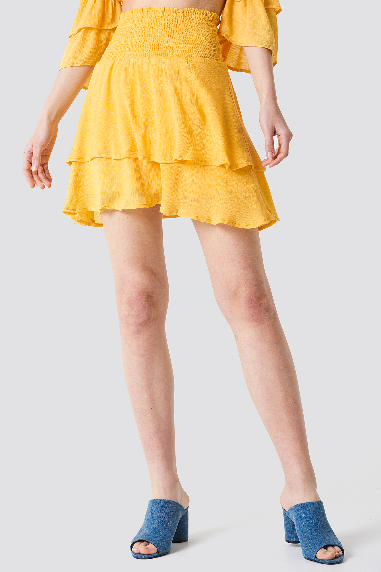 Crepe Layer Skirt NA-KD.COM