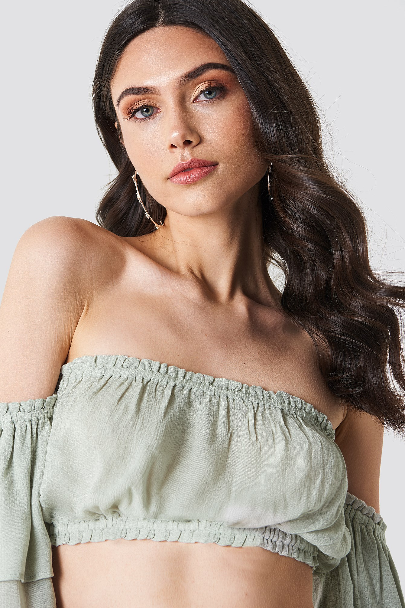 Crepe Off Shoulder Top NA-KD.COM