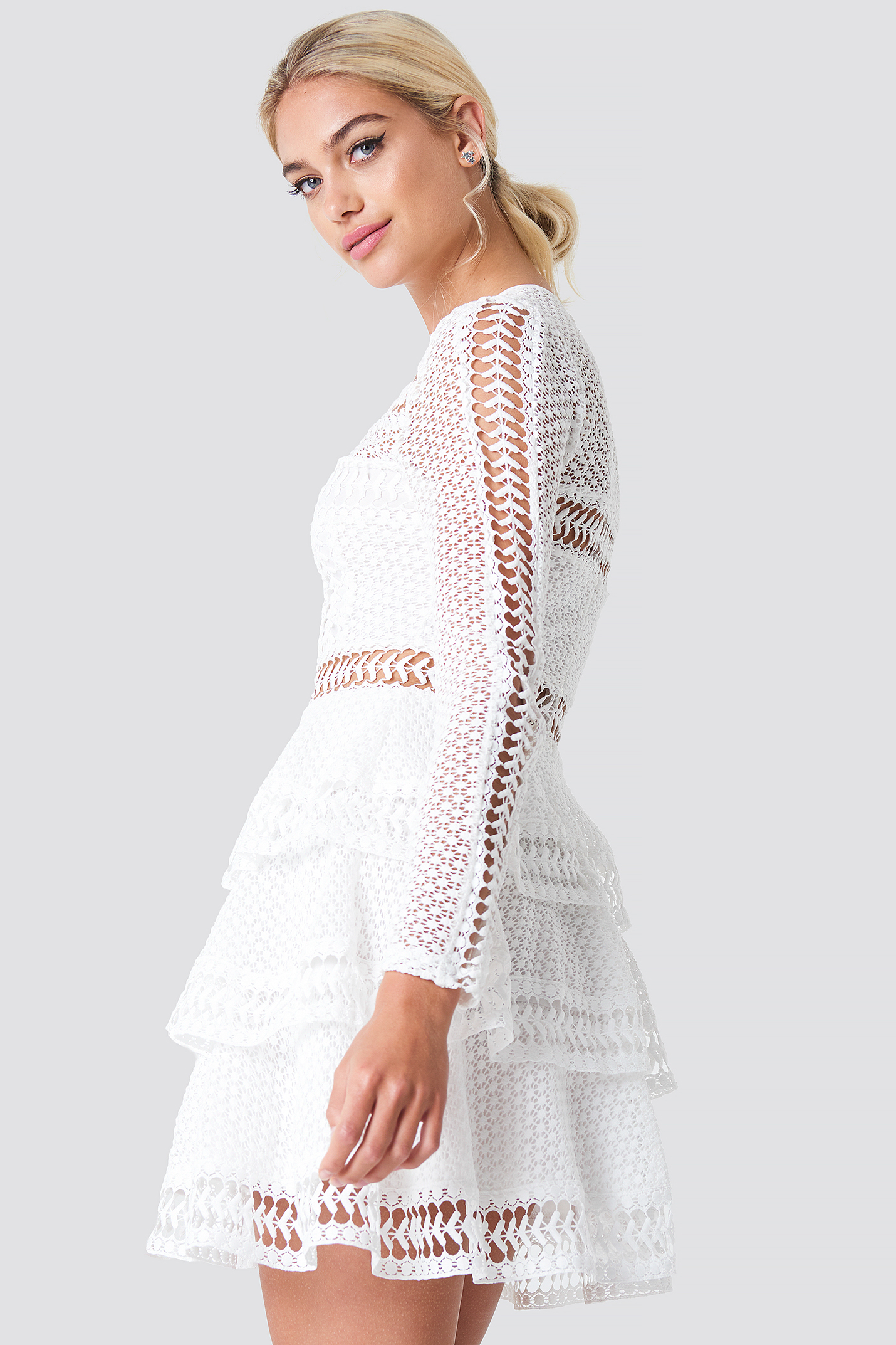 Crochet Dot Dress NA-KD.COM