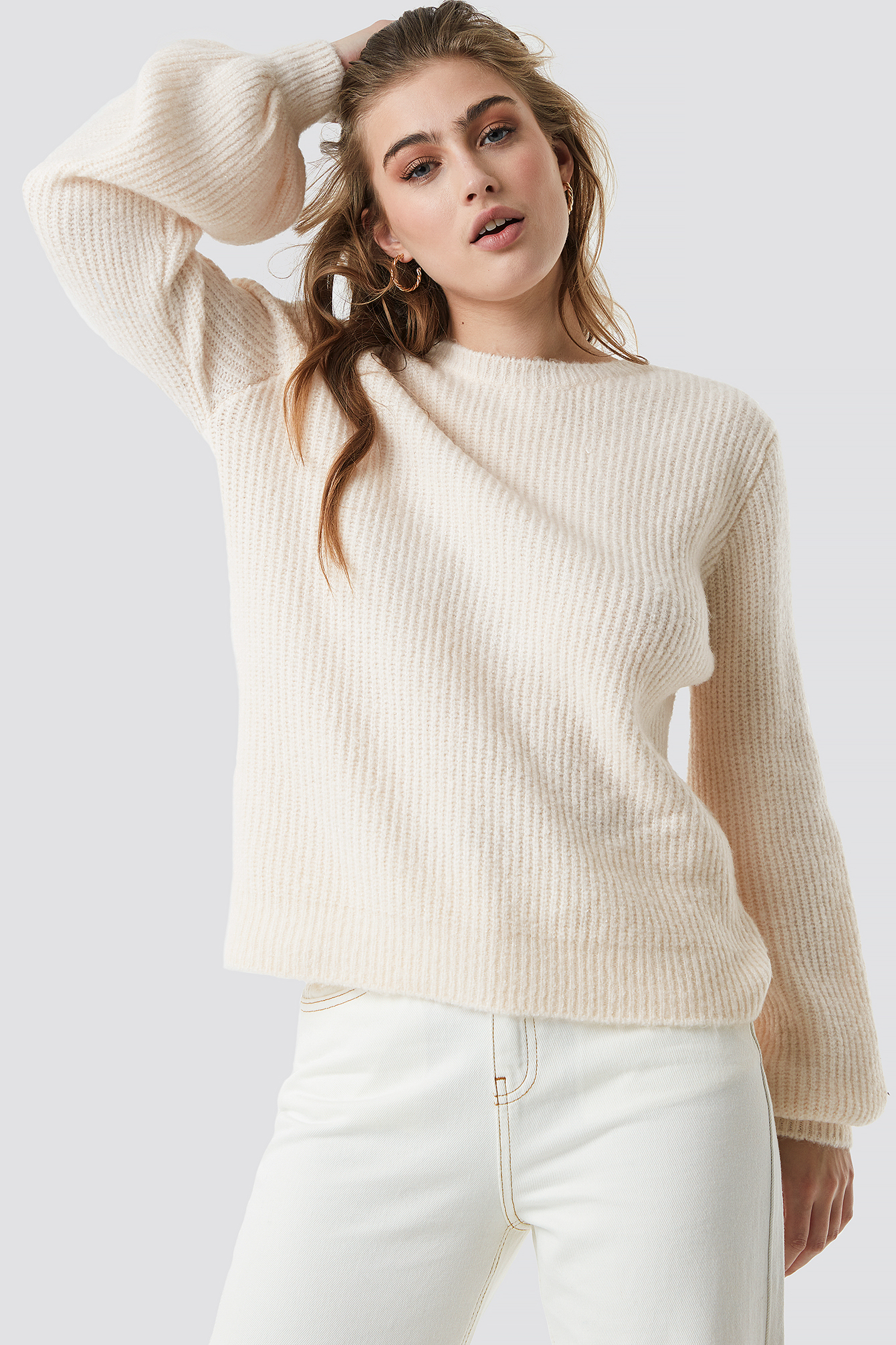 Deep V Back Sweater NA-KD.COM