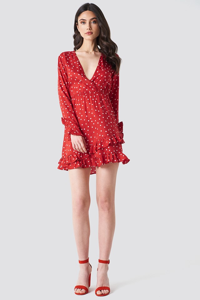 Dot Wrap Dress NA-KD.COM