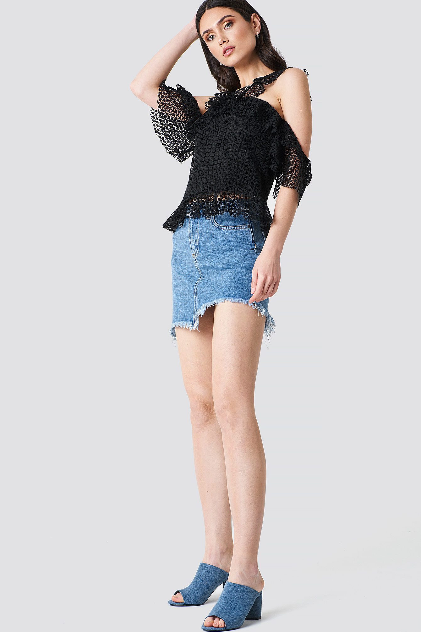 Double Frill Sleeve Top NA-KD.COM