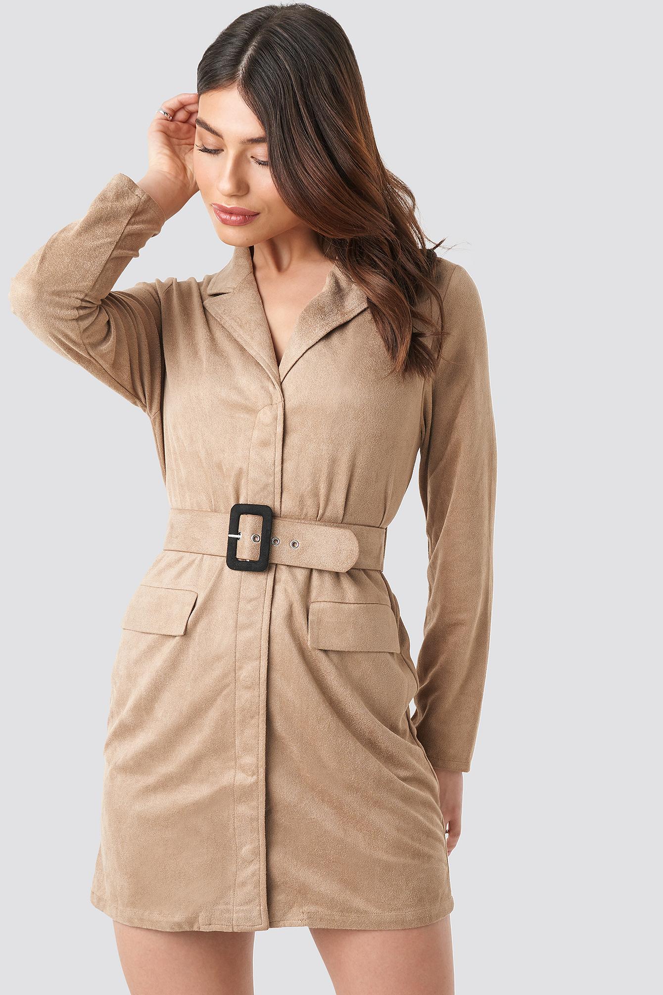 Faux Suede Dress NA-KD.COM