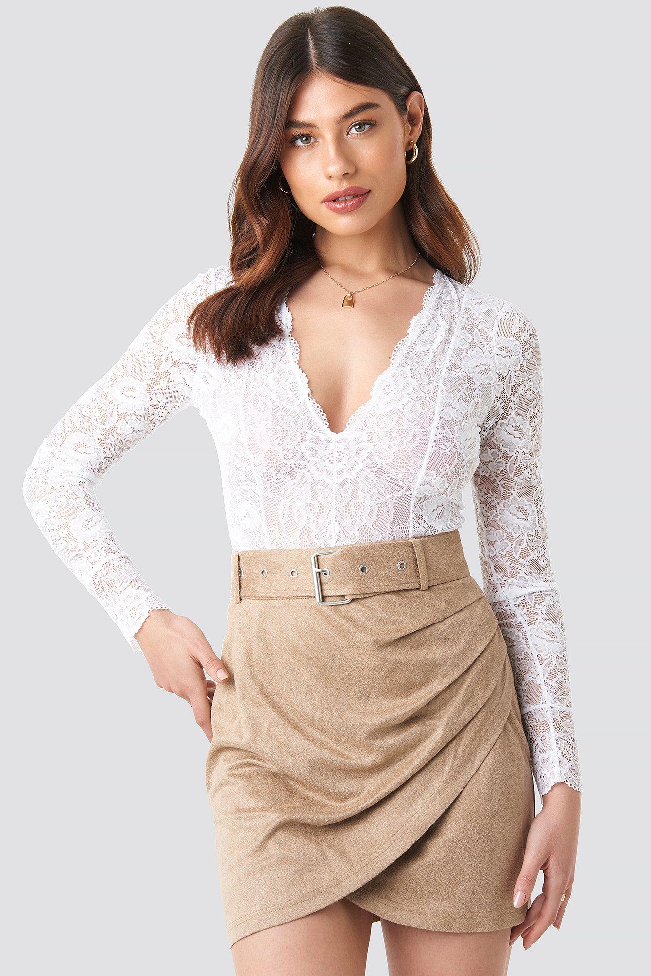 Faux Suede Mini Skirt NA-KD.COM