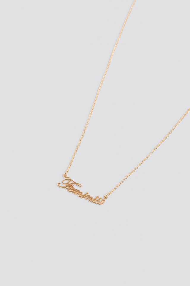 Feminist Necklace Gold