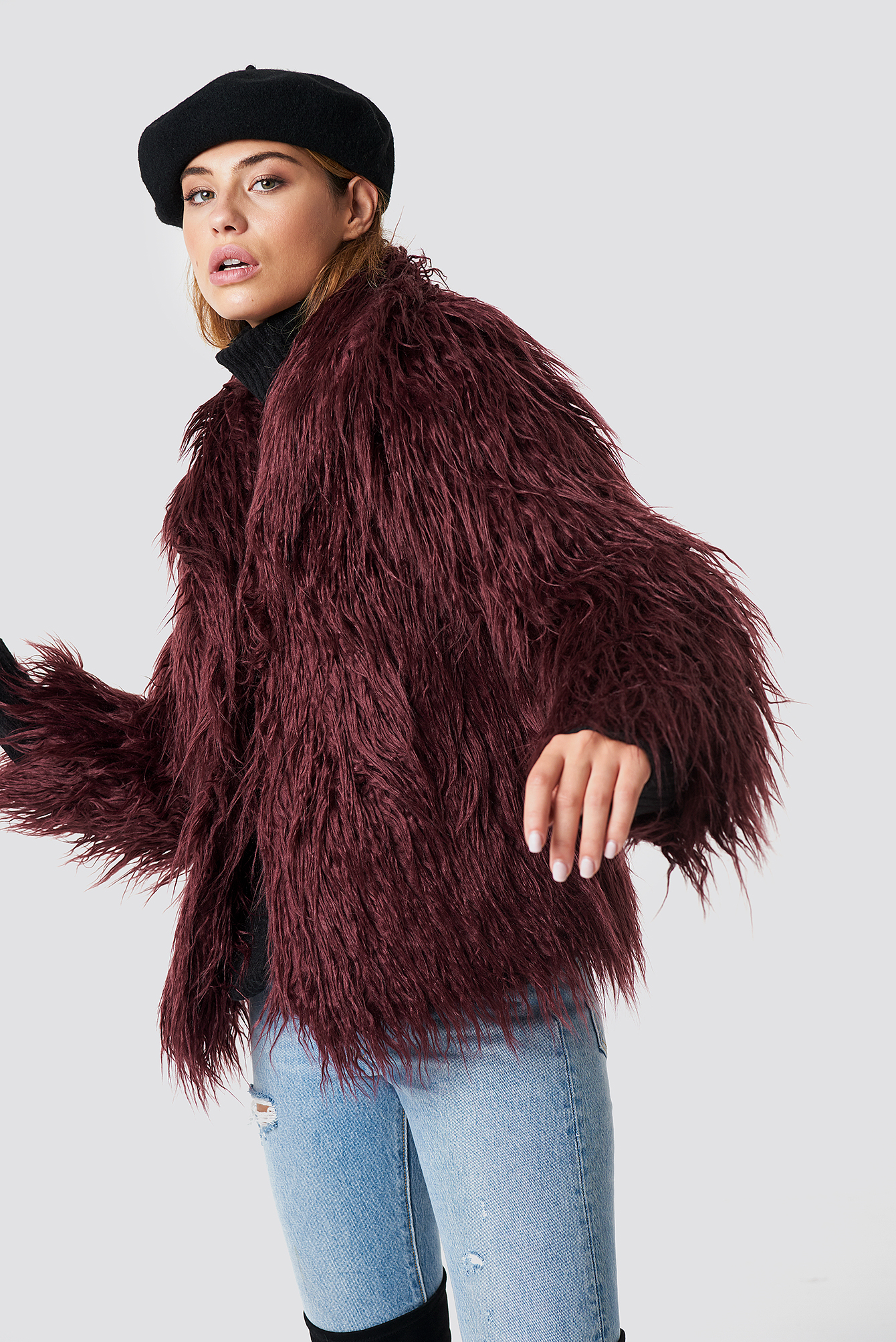 Fluffy Faux Fur Jacket NA-KD.COM