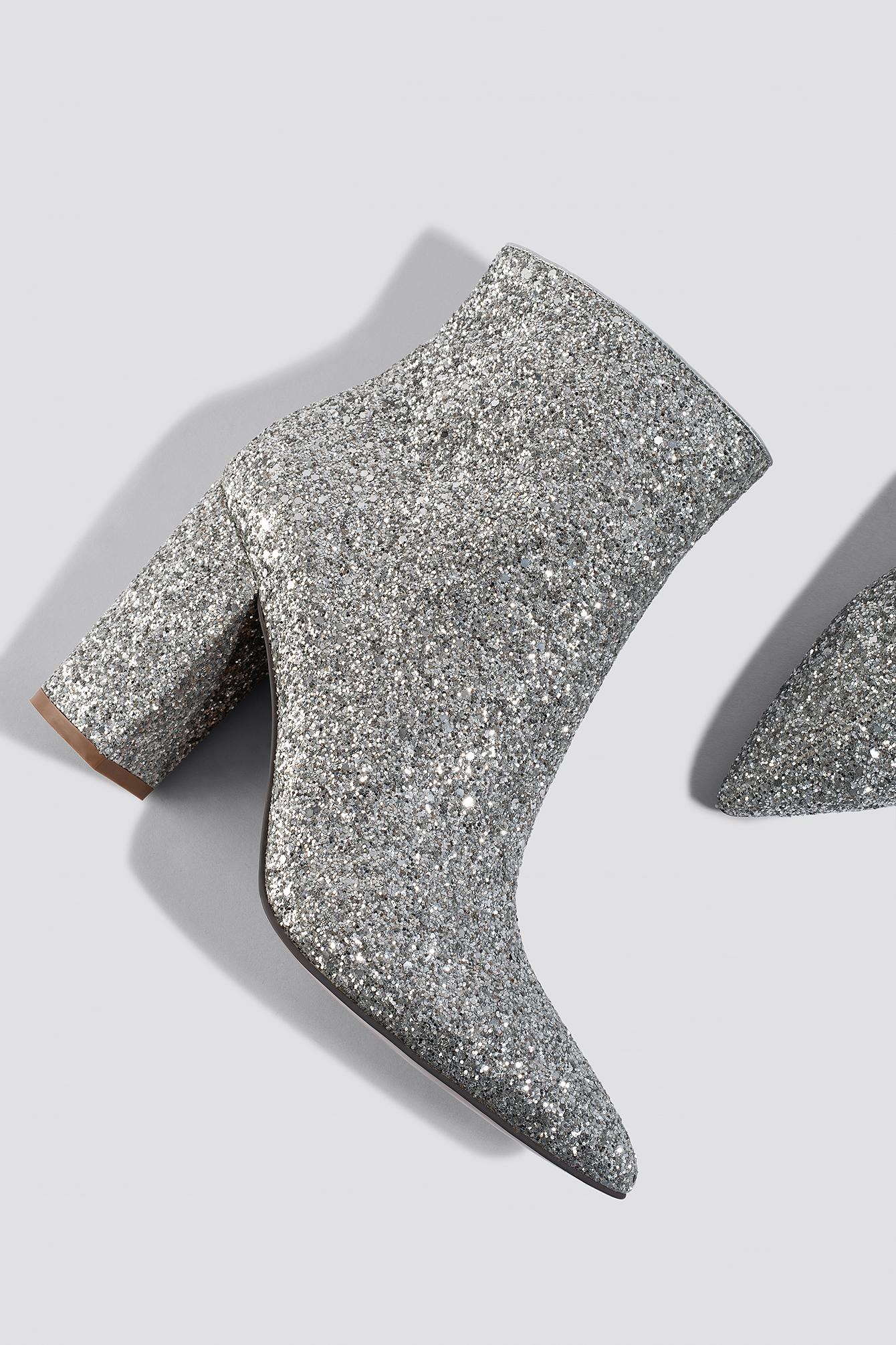 Glitter Heel Boots NA-KD.COM