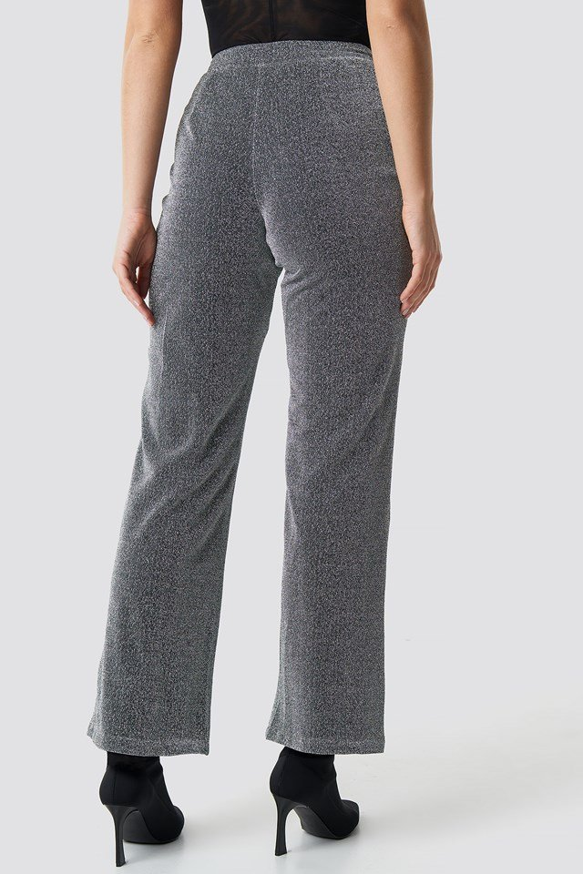 Glitter Suiting Pants Silver