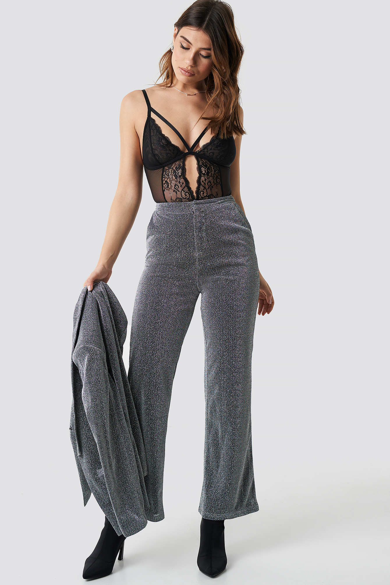 Glitter Suiting Pants NA-KD.COM
