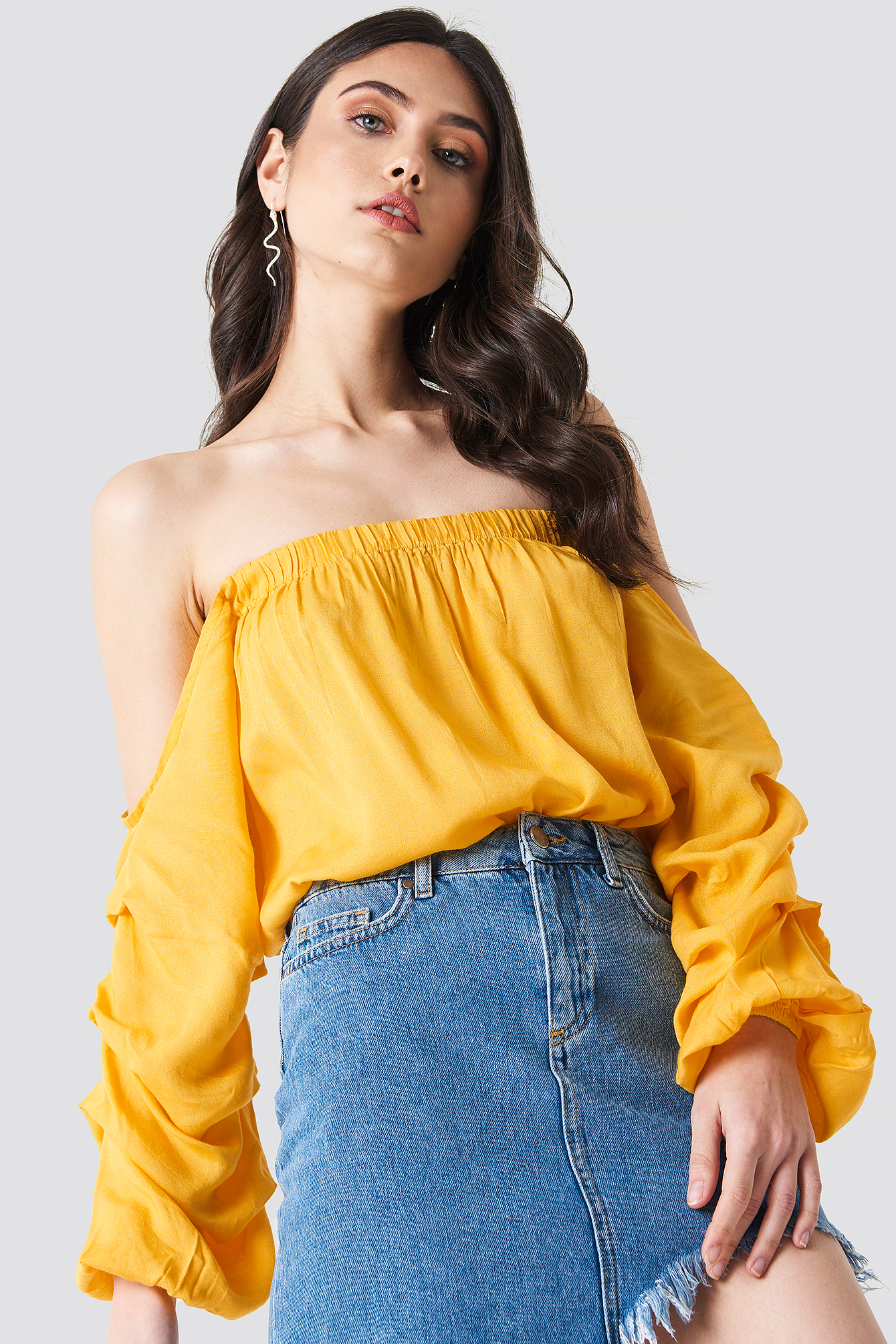 Off Shoulder Puff Sleeve Top NA-KD.COM