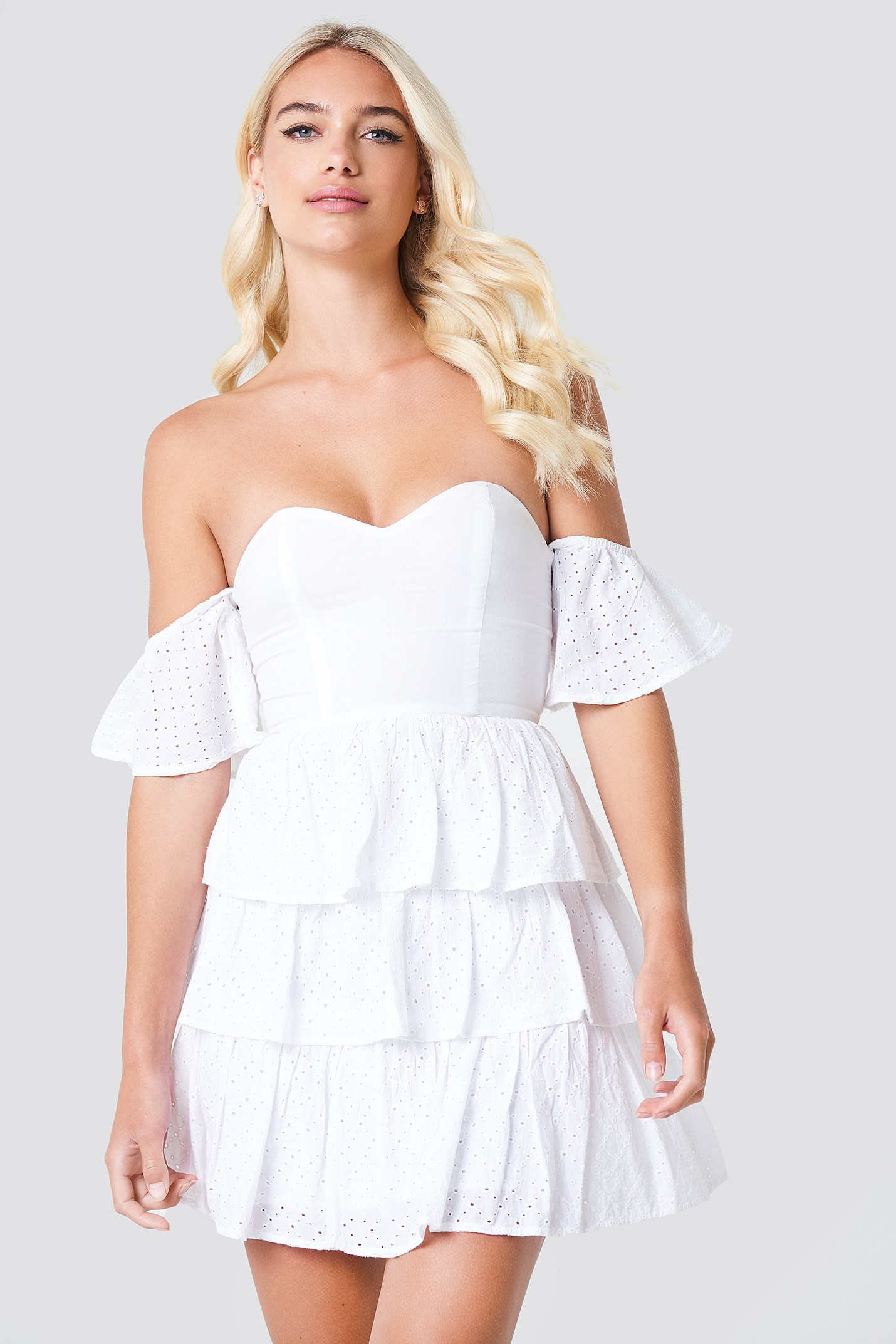 Off Shoulder Triple Layer Dress NA-KD.COM