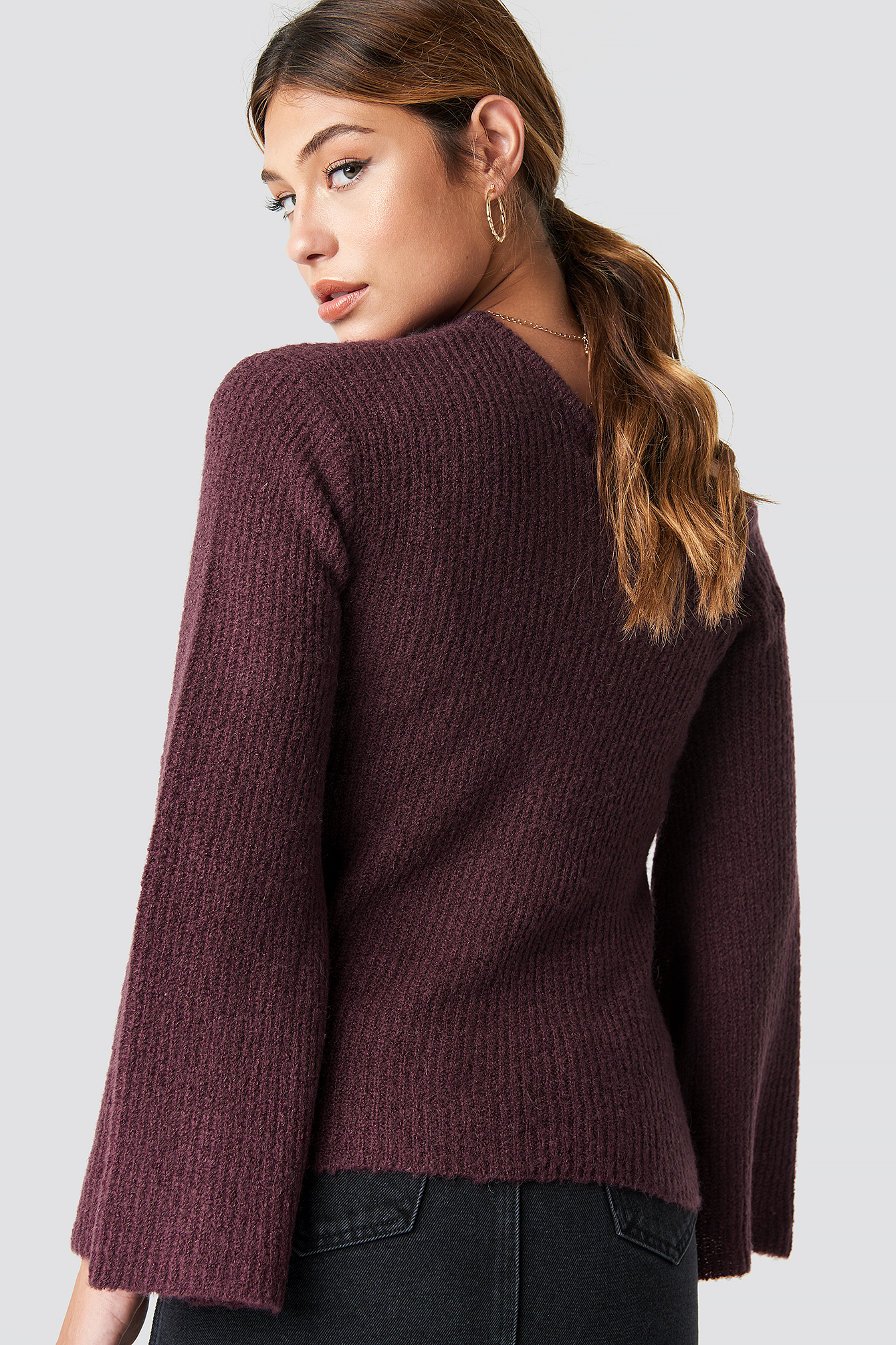One Shoulder Long Sleeve Sweater NA-KD.COM