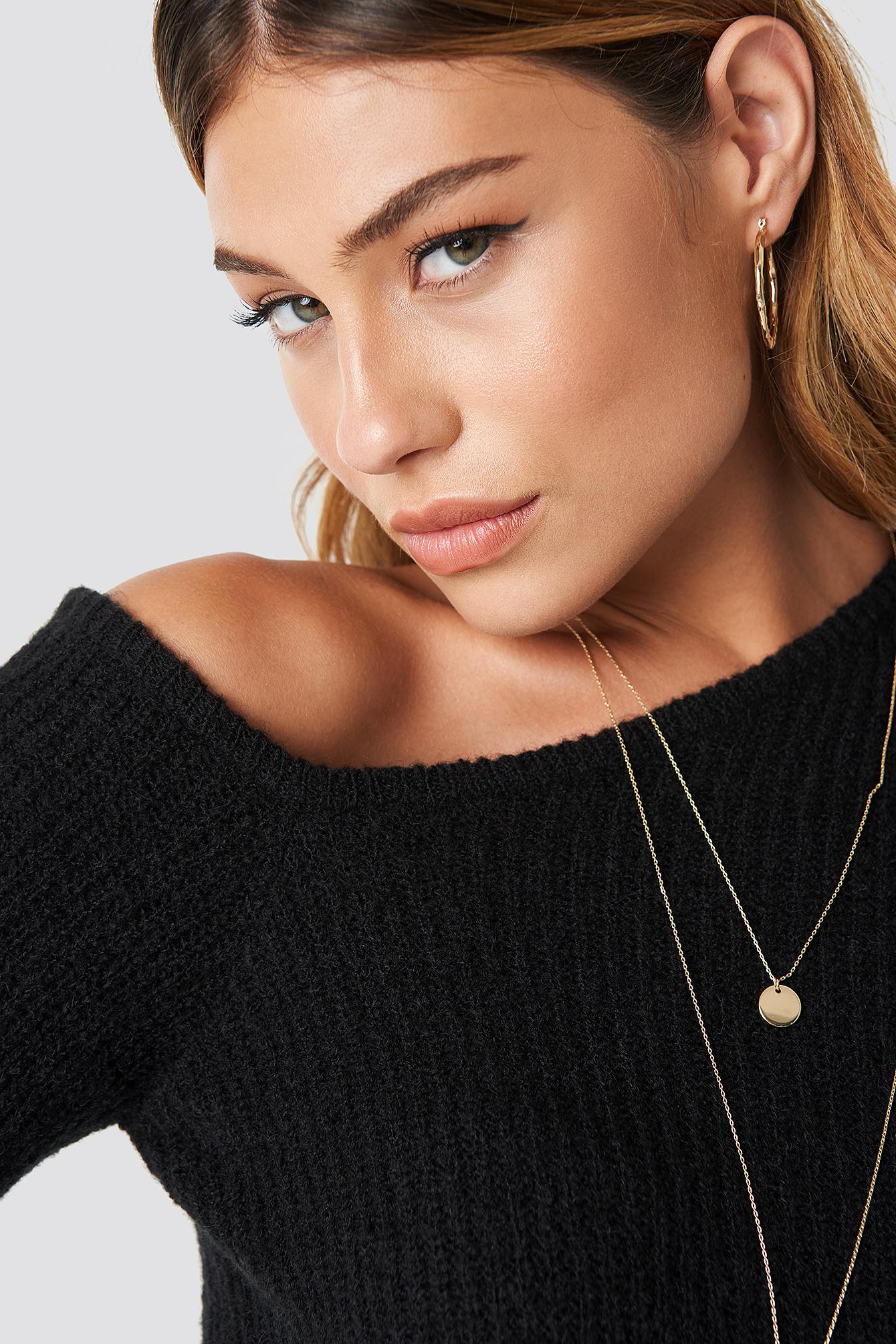 One Shoulder Long Sleeve Sweater NA-KD.COM