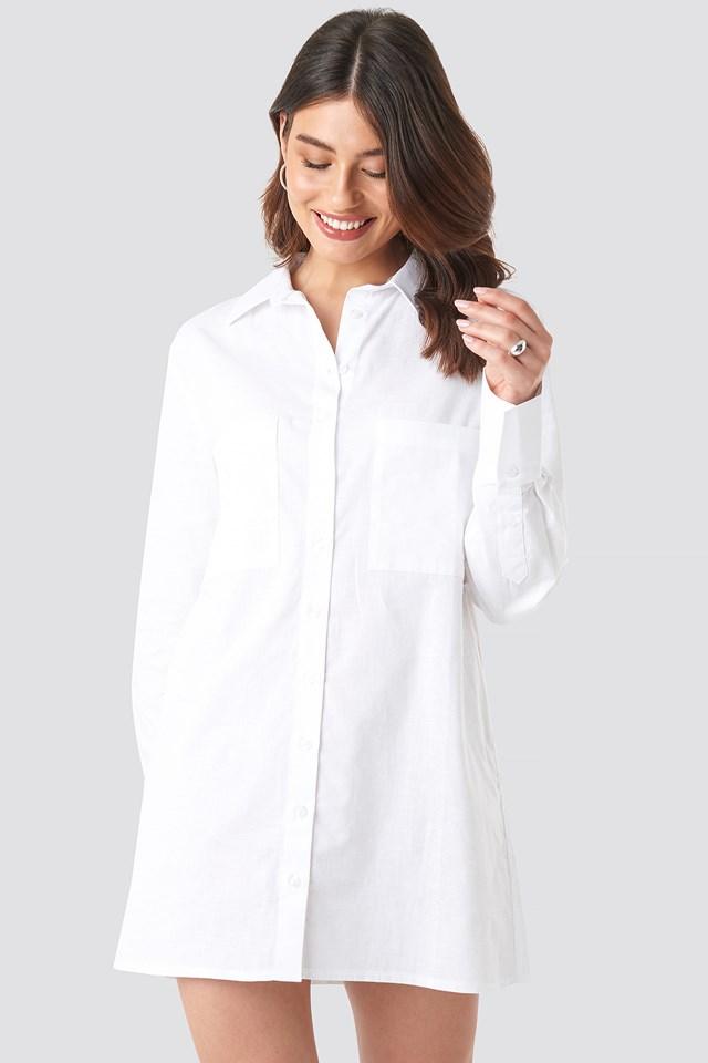 Oversized Shirt Dress White