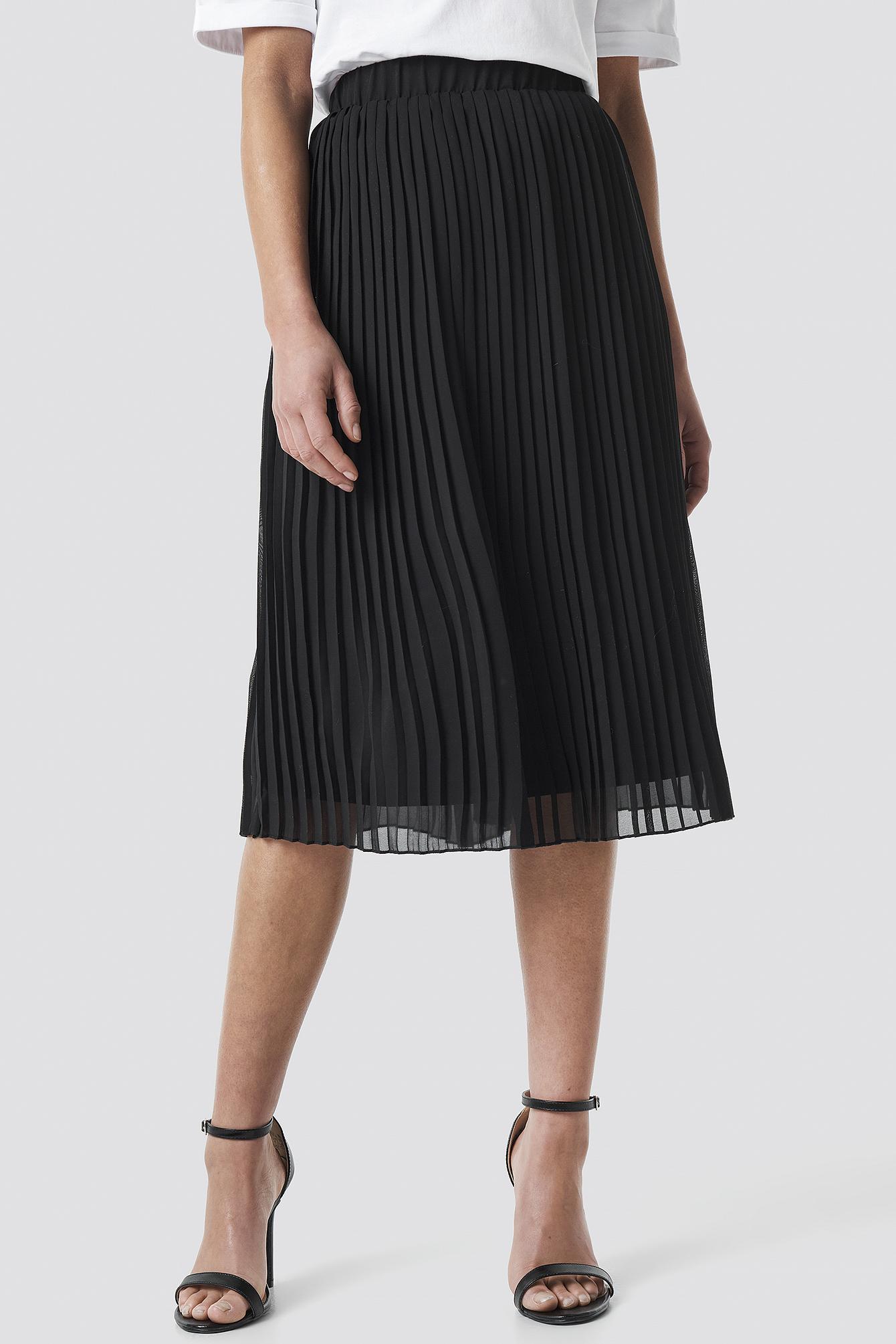 Pleated Midi Skirt NA-KD.COM