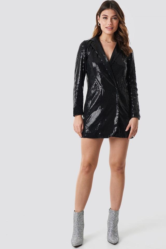 Sequin Dress Jacket Black