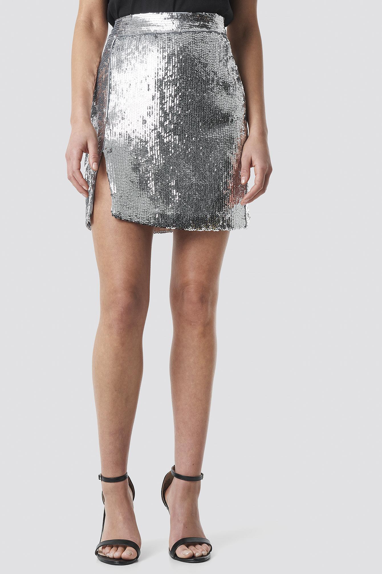 Sequin Mini Skirt NA-KD.COM