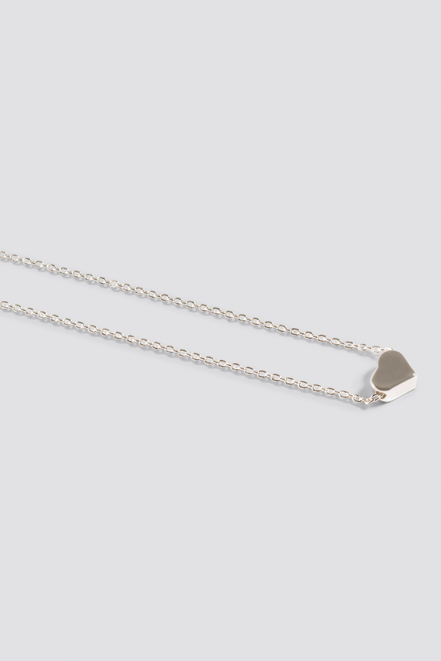 Silver Heart Necklace NA-KD.COM