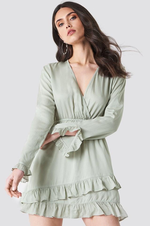 Solid Wrap Dress NA-KD.COM
